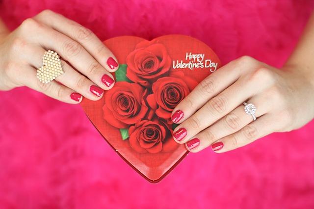 srdce na Valentýna